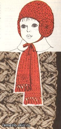 Вязанная крючком шапочка для девочки
