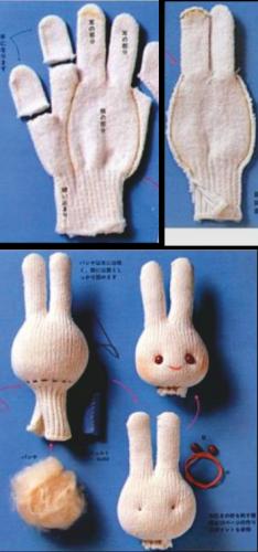 Куклы из перчаток для театра