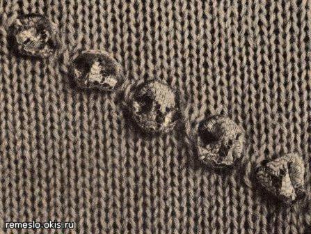 как декорировать вязаное изделие отделки вязаных вещей декор и