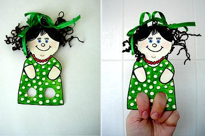 Сделать куклу для кукольного театра своими руками