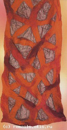 Войлоковаляние. Войлочные шарфы. Войлок валяние войлока .Изделия из войлока. Валять войлок