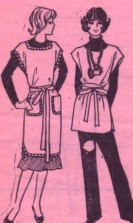 Женская домашняя одежда. Одежда для дома. Халат выкройка. Фартук домашний