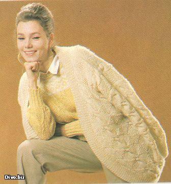 Вязание на спицах кофты и свитера