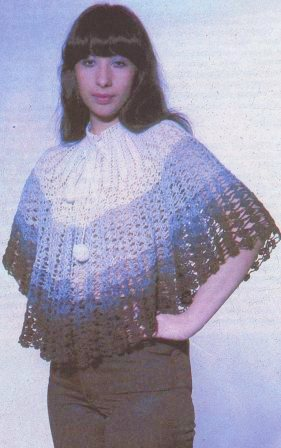 Схемы вязания на спицах пончо.