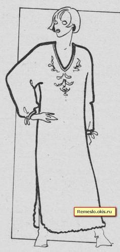 Ночная рубашка с рукавом