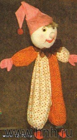 Клоун. Мягкая игрушка своими руками. Тряпичные куклы. Поделки с детьми